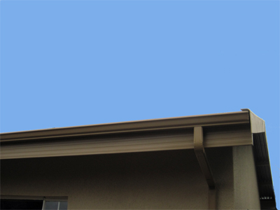 Completed Fascia and Gutter in Kalahari Sand colour.