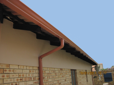 Completed Gutter system - in Domestic Gemsbok sand