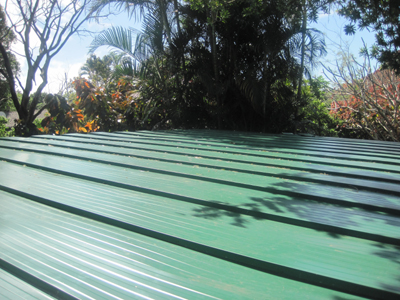 Completed Seamless roof sheeting top view